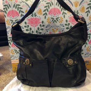 Marc Jacobs black leather bag.